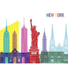 New York skyline pop vector image