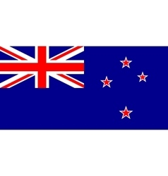 New Zealand flag in correct proportions and colors vector