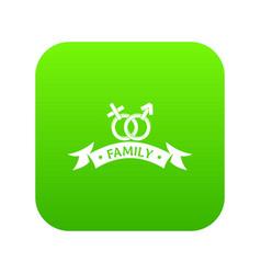 newborn family icon green vector image