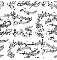 Notes music melody colorful musician symbols vector