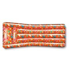 Orange inflatable mattress vector