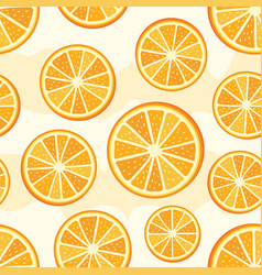 orange sliced pattern vector image