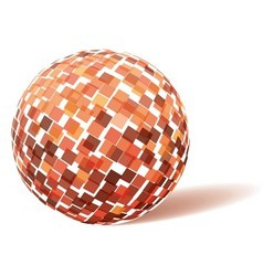 Orange technology sphere vector image