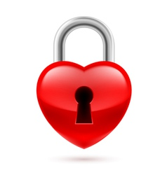 Padlock as heart vector