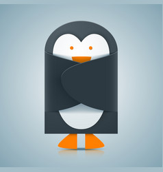 paper penguin - envelope icon vector image