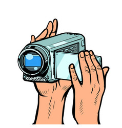 portable hand-held video camera vector image