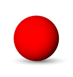 Red sphere ball or orb 3d object with vector
