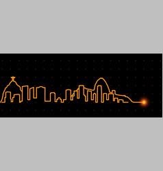 rio de janeiro light streak skyline vector image