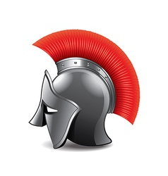 roman helmet isolated vector image