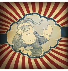 Santa claus vintage vector
