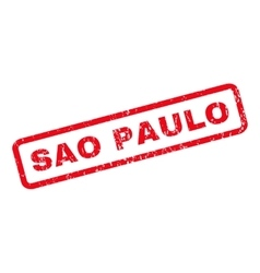 Sao Paulo Rubber Stamp vector image