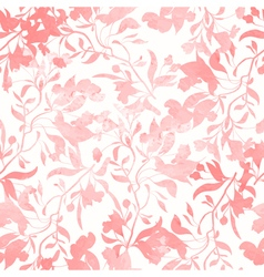 Seamless pattern with watercolor flowers vector
