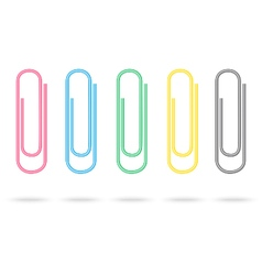 Set of colour paper clips vector image