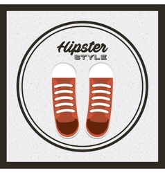 shoes young fashion isolated icon vector image