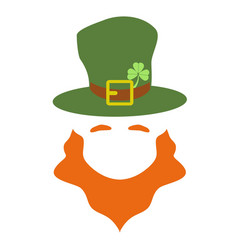 simple leprechaun with hat vector image