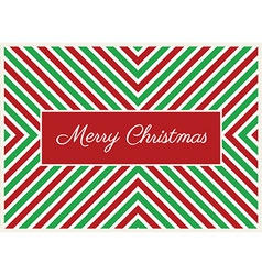 Striped Christmas Card vector image vector image