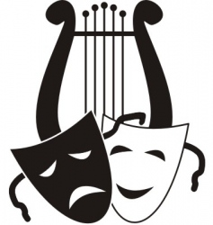 theater symbols vector image