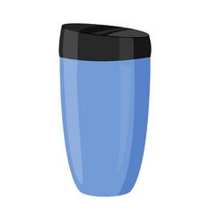 Thermo mug eco friendly goods vector