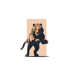 tiger in a jump vector image