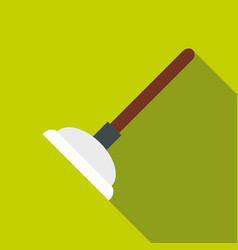 Toilet plunger icon flat style vector