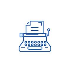 typewriterwriterwritingcopywriting line icon vector image