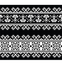 Ukrainian Slavic seamless folk embroidery pattern vector image
