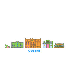 United states new york queens line cityscape vector