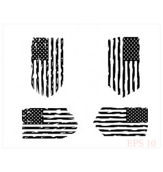 Usa flag distressed american flag military army vector