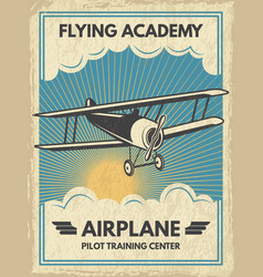 Vintage aircaft poster vector