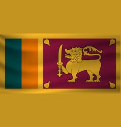Waving flag sri lanka vector