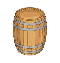 wooden barrel for wine or beer vector image