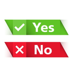 Yes and No Banners vector