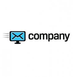 digital computer message logo vector image vector image