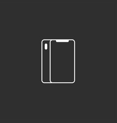 flat outline style smartphone icon vector image vector image