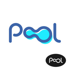 pool word logo pool letters sign vector image vector image