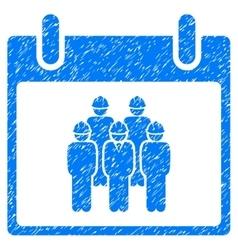 Staff Calendar Day Grainy Texture Icon vector image vector image