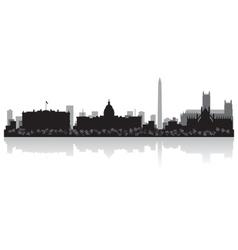 Washington USA city skyline silhouette vector image