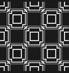 abstract art deco black geometric seamless pattern vector image