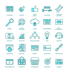 development signs thin line icon set vector image vector image