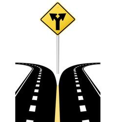 highway road sign vector image
