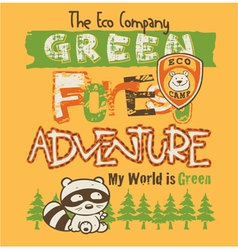 The eco company vector image vector image