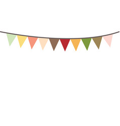 colored bunting party decoration festive flags vector image