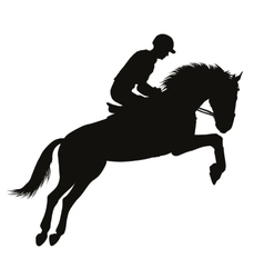 Equestrian sport silhouettes vector image