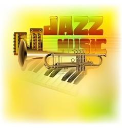 jazz background music vector image