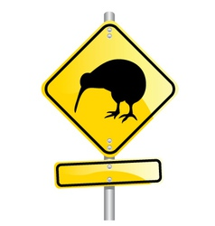 kiwi road sign vector image vector image