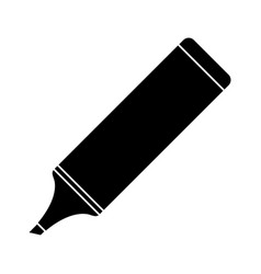 marker school utensil pictogram vector image vector image