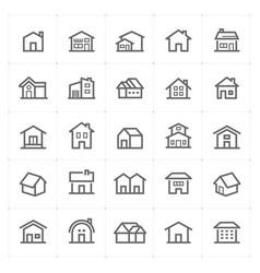 mini icon set - home icon vector image vector image