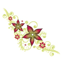 Tendril floral element vector image