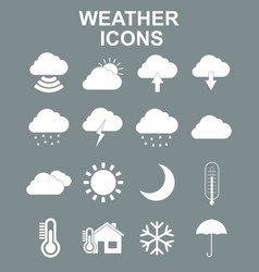 weather forecast and meteorology symbols icons vector image