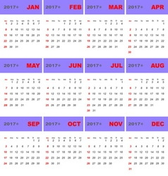 2017 calendar template for business use vector